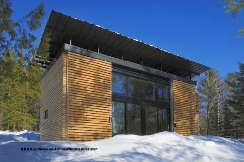 Маленький загородный эко-дом
