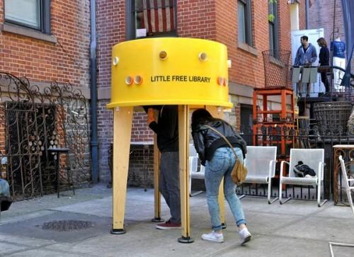 Переносная библиотека Stereotank в Нью-Йорке. Фото 2