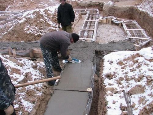Как залить бетон зимой?