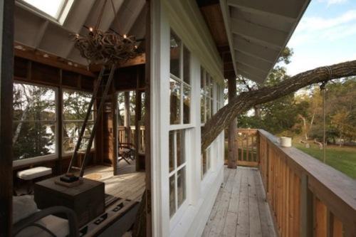 Уникальный коттедж Tom's Treehouse - дом вокруг дерева. Фото 3