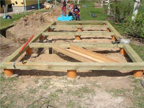 Делаем фундамент бани