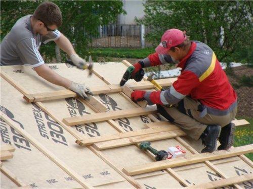 Устройство крыши каркасной бани