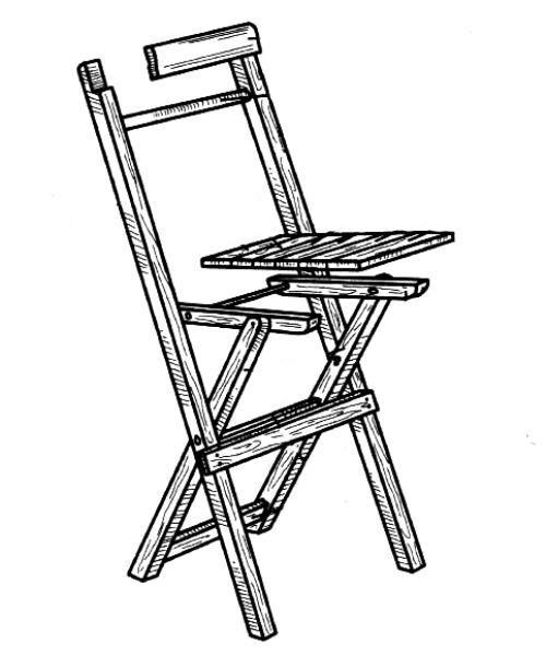 Как сделать складной деревянный стул своими руками