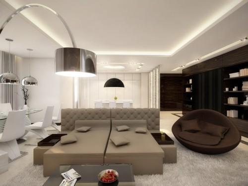 Интерьер квартиры в стиле hi-tech