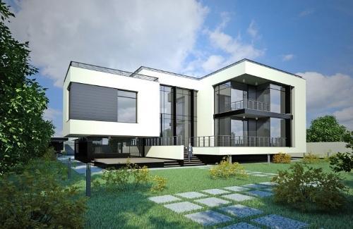 Загородный дом в стиле hi-tech