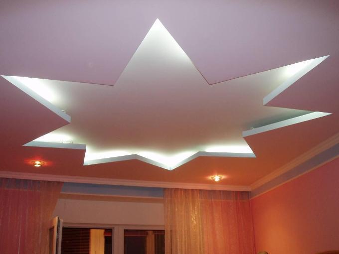 Потолок звездой