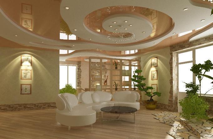 Гипсокартонный потолок сложной конструкции