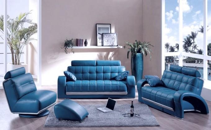 Синий цвет в интерьере фото