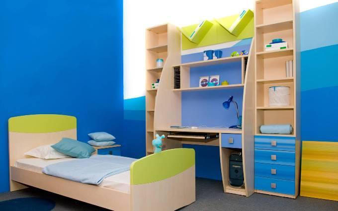 Синий цвет в детской