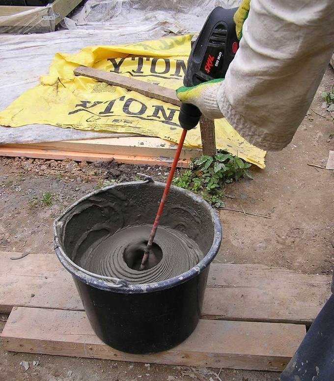 Приготовление клея для газобетона