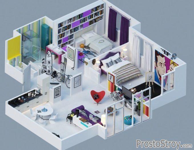 Что такое 3D планировка квартиры?