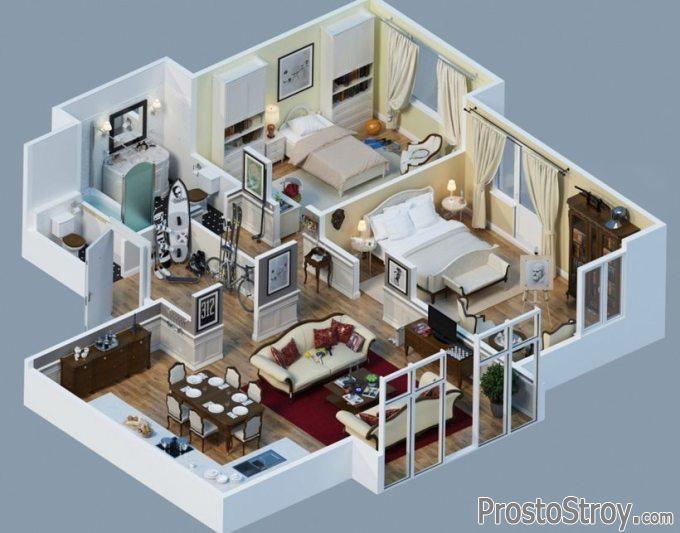 3d комнаты