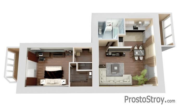 3D планировка комнат