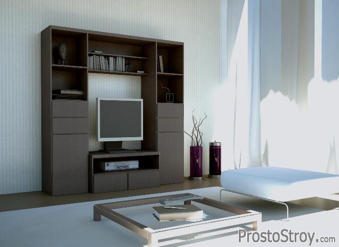 Современная мини стенка под телевизор