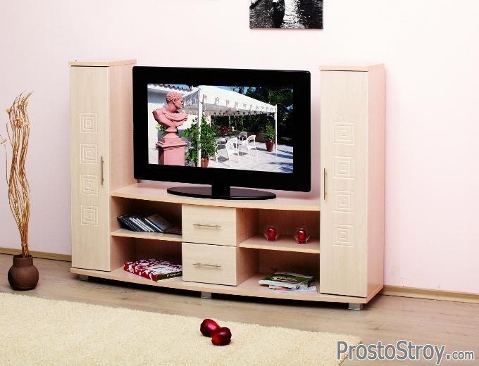 Мини стенки под телевизор: фото, виды, выбор, размещение