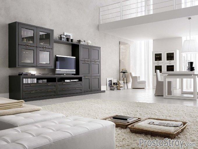 Вместительная стенка под телевизор