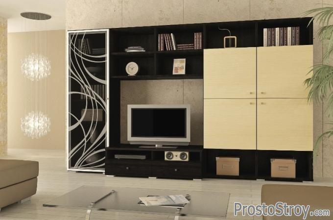 Стенки-шкафы под телевизор фото