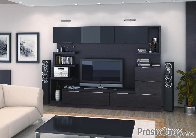 Классическая стенка под телевизор фото