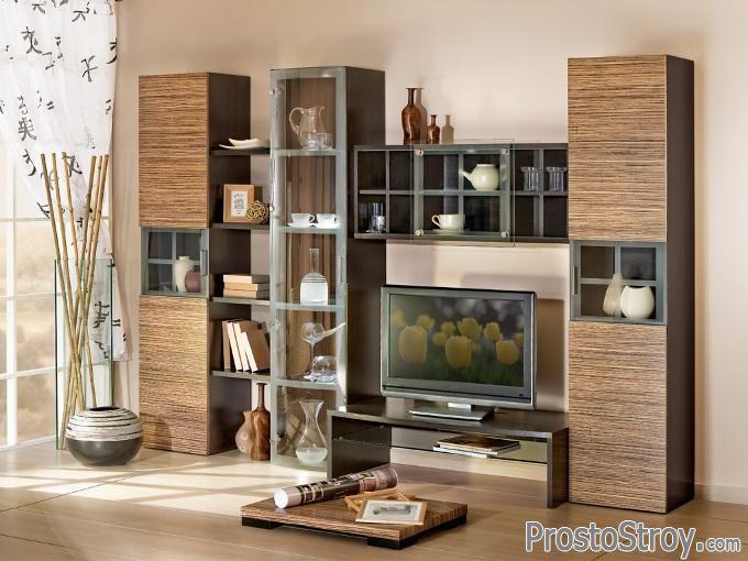 Азиатский стиль стенки под телевизор