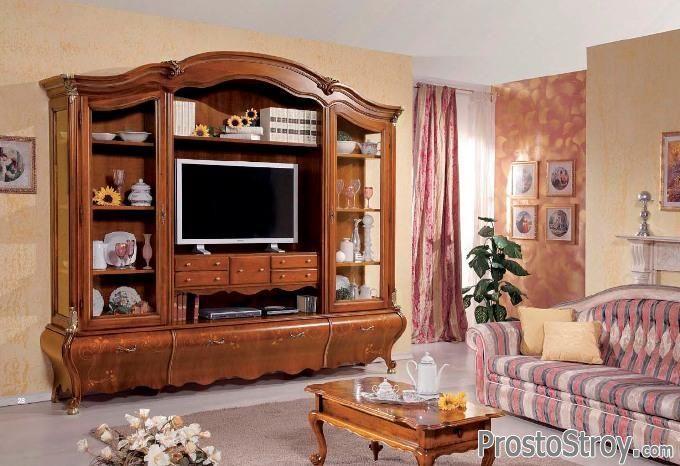 Стенка под телевизор стиль марокко