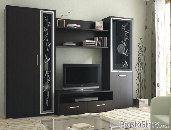 Стенки под телевизор: виды, стили, выбор, фото