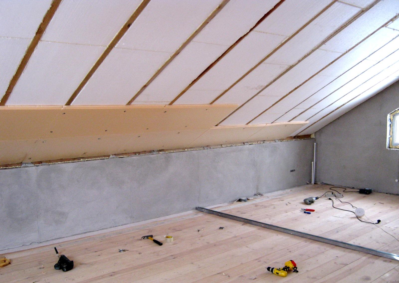 Пенопласт как утеплитель для потолка