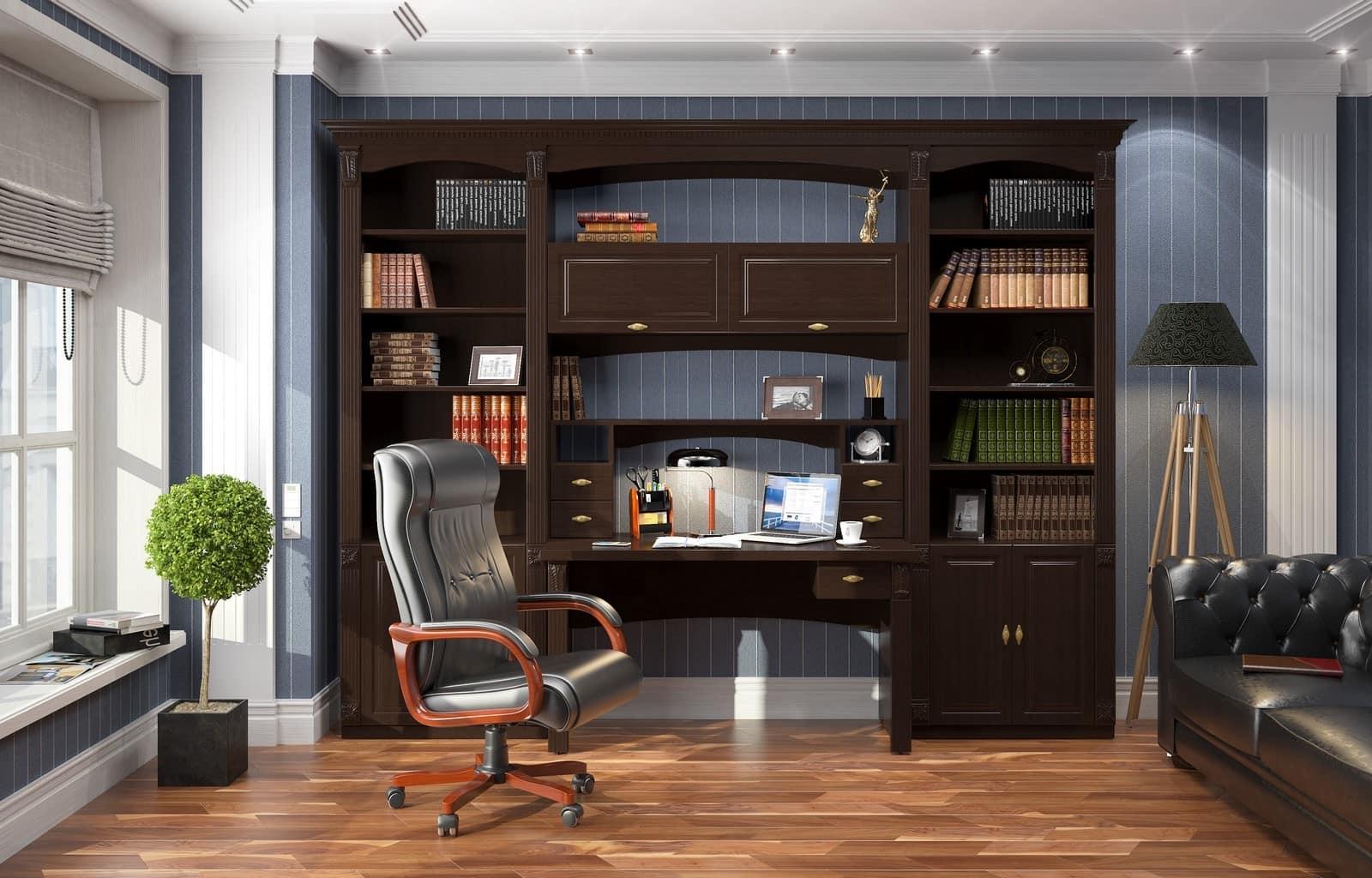 Дизайн интерьера рабочего кабинета или места