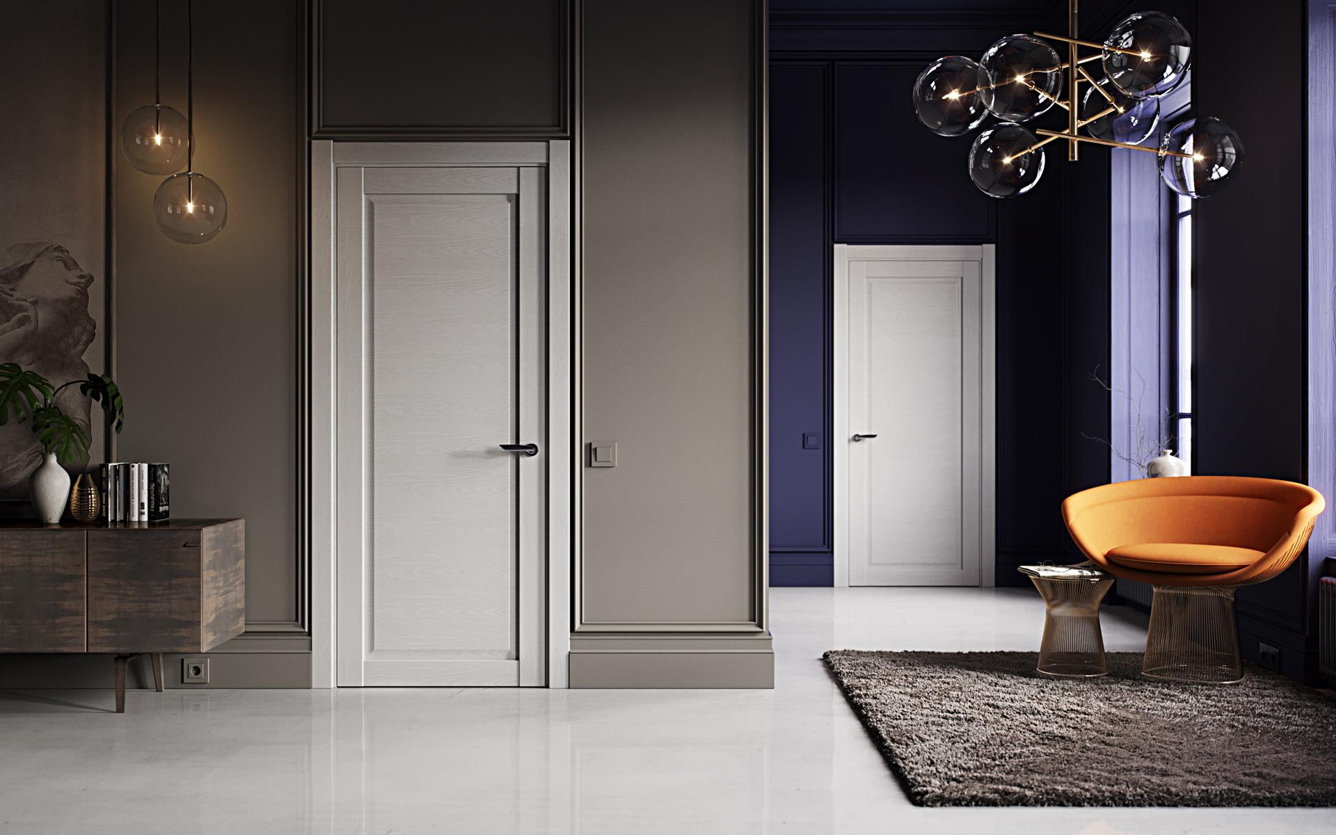 Двери с эмалью