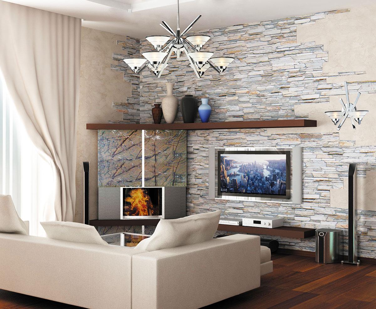 Отделка стен искусственным камнем White Hills