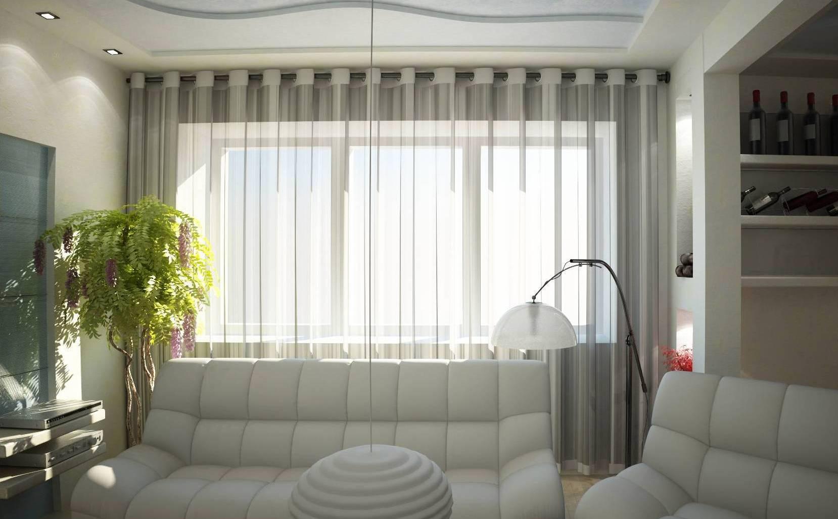 Тюлевые шторы в интерьере