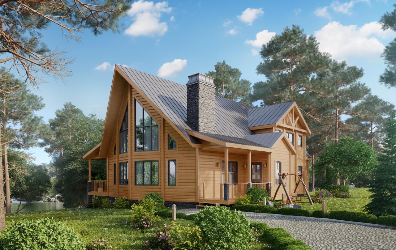 Возведение дома из дерева
