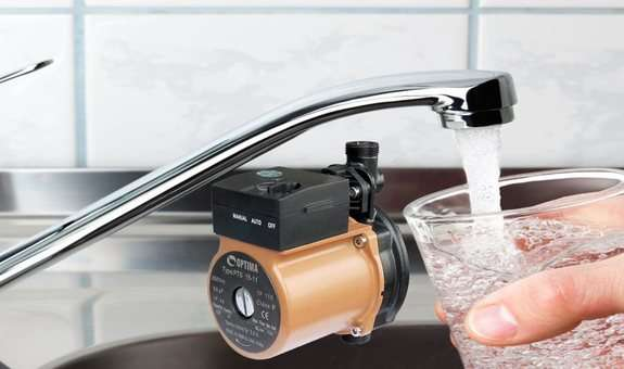 Принцип работы насоса для повышения давления воды Акватика