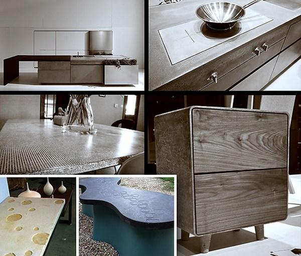 Использование бетона в качестве строительного материала и для изготовления кухонной мебели