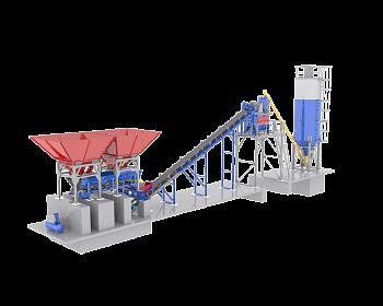 Как устроен и работает мини бетонный завод?