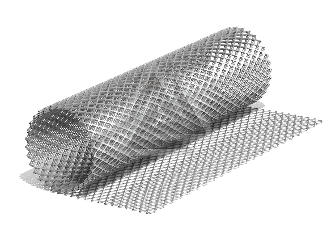 Цельнометаллическая просечно-вытяжная сетка: современный армирующий материал высокого качества