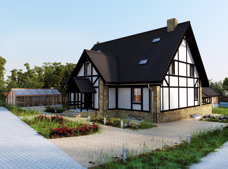 Дачный дом в немецком стиле: характерные черты-
