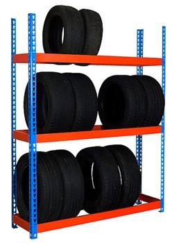 Виды стеллажей для хранения шин